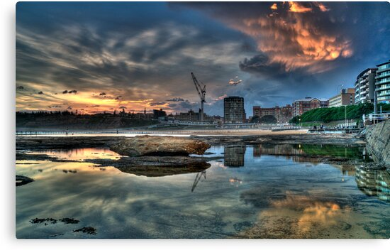 Newcastle Sunset HDR by Andrew Murrell