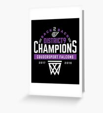 Coudersport Falcons District 9 Champions Basketball Greeting Card