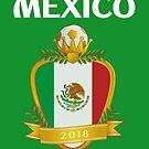 Team Mexico Futbol Soccer El Tri by Dave Jo