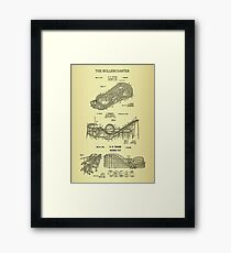 The Roller Coaster Patent Print Combo Framed Print