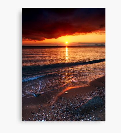Sunset mist Canvas Print