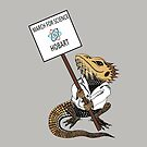 March for Science Hobart – Beardie, full color by sciencemarchau