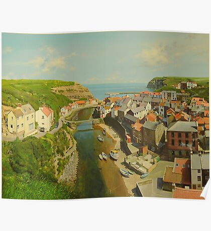 East Coast Village of Staithes Poster
