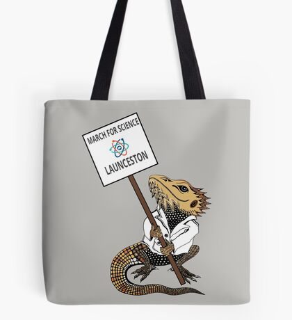 March for Science Launceston – Beardie, full color Tote Bag