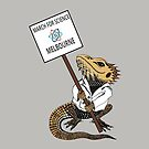 March for Science Melbourne – Beardie, full color by sciencemarchau