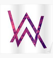 Alan walker purple pattern Poster
