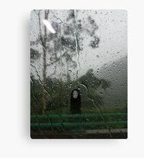No Face in the rain Canvas Print