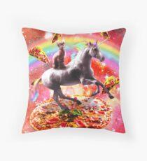 Space Cat Riding Unicorn - Pizza & Taco Bodenkissen