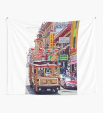 Chinatown Streetcar Wall Tapestry
