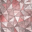 Soft Pink Glamour Gemstone Triangles by artsandsoul