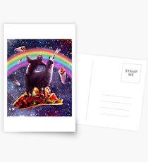 Space Sloth Riding Llama Unicorn - Taco & Burrito Postcards