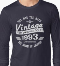 Vintage 1993 - 25th Birthday Gift For Men Long Sleeve T-Shirt