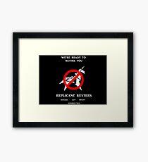 Blade Runner Ghostbuster spoof Framed Print