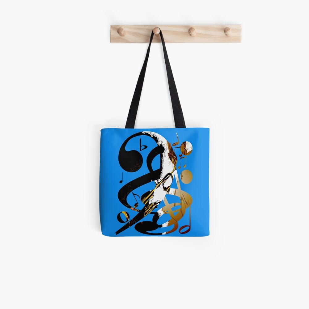 Jazznote Blau Tote Bag