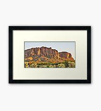 Superstition  Mountain,  AZ Framed Print