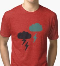 Pattern with lightning rain Tri-blend T-Shirt