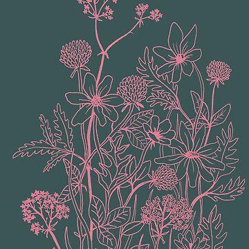 Dark meadow flowers by linnw