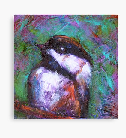 Reasons to Be Cheerful : Chickadees Canvas Print
