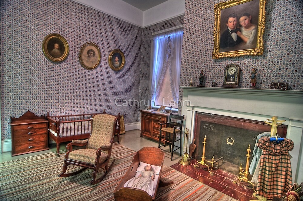 Children's Bed Room 1800's  by Cathryn  Lahm