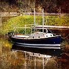 Little River Boat. (Textured Effect) by ScenicViewPics