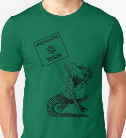 March for Science Brisbane – Beardie, black T-Shirt