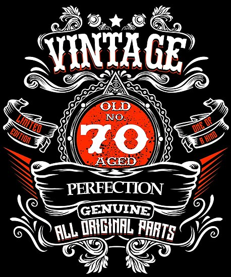 Vintage 70th Birthday 1948 70 Years Old Gift T Shirt