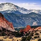 Pikes Peak Mountain Panorama - Colorado Springs by Gregory Ballos