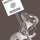 March for Science Melbourne – Beardie, white by sciencemarchau