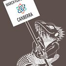 March for Science Canberra – Beardie, white by sciencemarchau