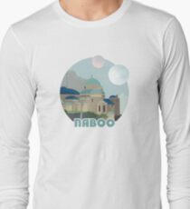 Naboo Retro Travel Poster Long Sleeve T-Shirt