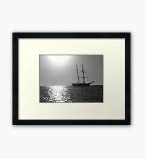 Tall Ship at Anchor Framed Print
