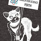 March for Science Perth – Tassie Devil, white by sciencemarchau