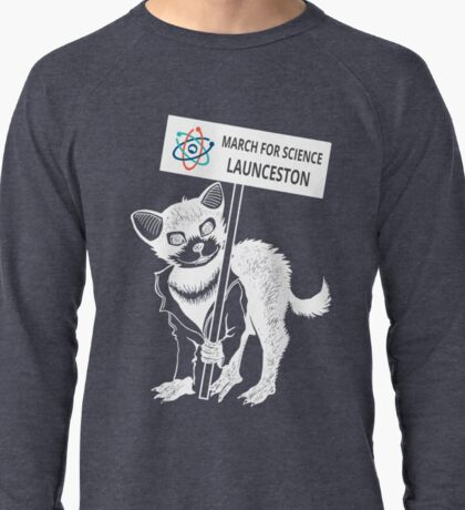 March for Science Launceston – Tassie Devil, white Lightweight Sweatshirt