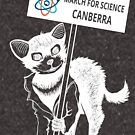 March for Science Canberra – Tassie Devil, white by sciencemarchau