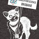 March for Science Brisbane – Tassie Devil, white by sciencemarchau