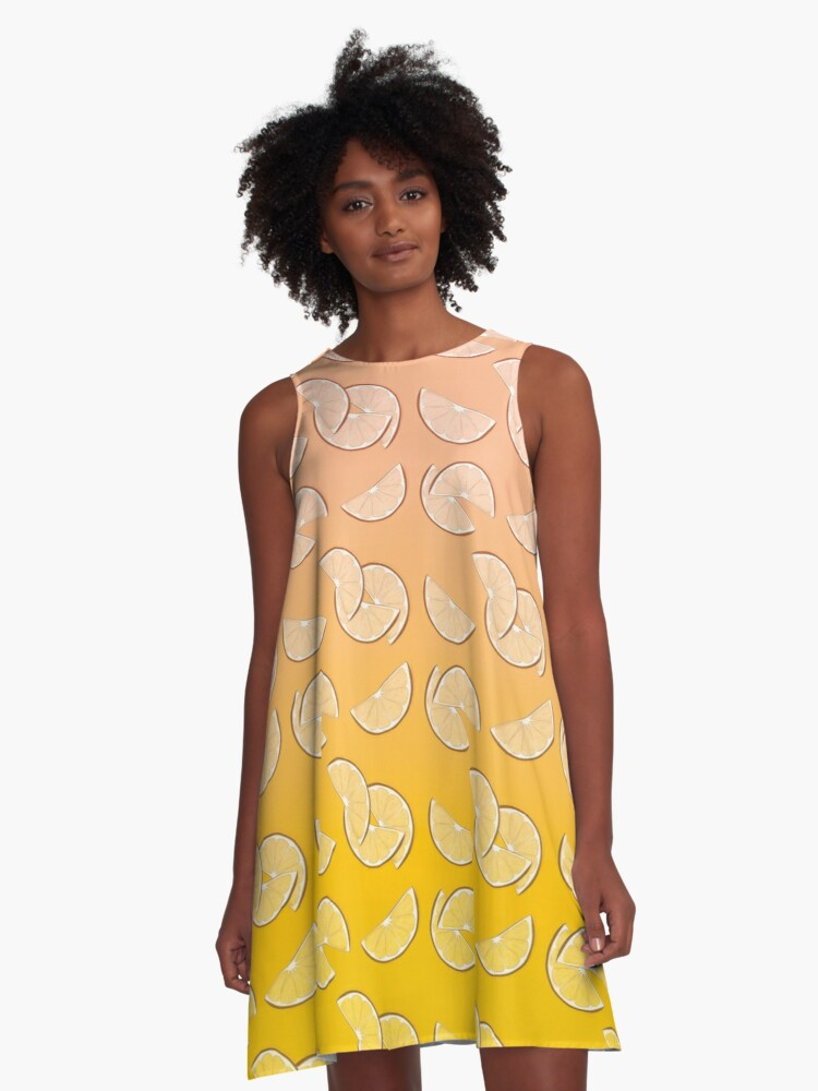 Grapefruit pattern A-Line Dress Front