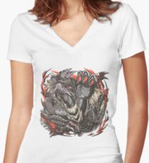 Emperor of Hell  Women's Fitted V-Neck T-Shirt