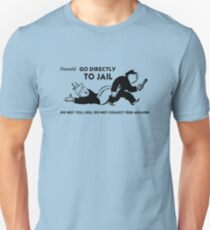 Donald go directly to jail  Slim Fit T-Shirt