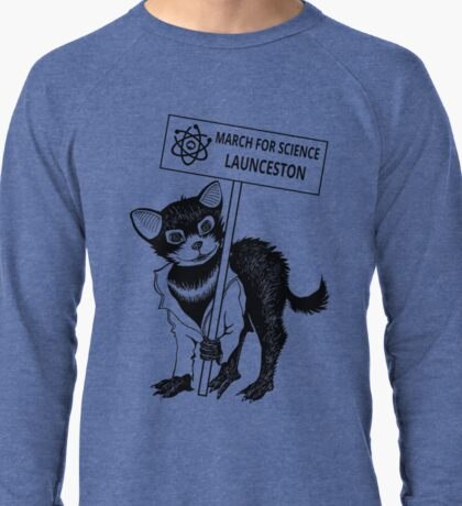 March for Science Launceston – Tassie Devil, black Lightweight Sweatshirt
