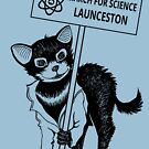 March for Science Launceston – Tassie Devil, black by sciencemarchau