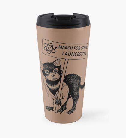 March for Science Launceston – Tassie Devil, black Travel Mug