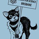 March for Science Brisbane – Tassie Devil, black by sciencemarchau