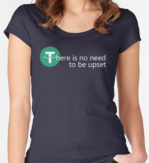 There is no need to be upset Women's Fitted Scoop T-Shirt
