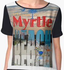 WELCOME TO MYRTLE BEACH Calendar Cover Chiffon Top