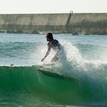 Surfer at Supertubos Peniche Portugal by emergentdesigns
