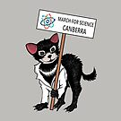 March for Science Canberra – Tassie Devil, full color by sciencemarchau