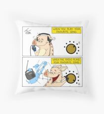 TURN IT UP!!! - Throw Pillow Throw Pillow