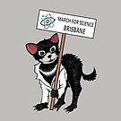 March for Science Brisbane – Tassie Devil, full color by sciencemarchau