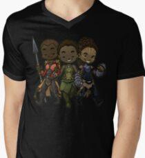 Panther Trio T-Shirt mit V-Ausschnitt für Männer