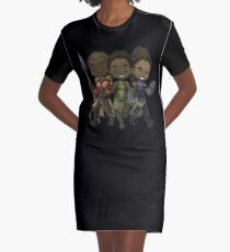 Panther Trio Graphic T-Shirt Dress